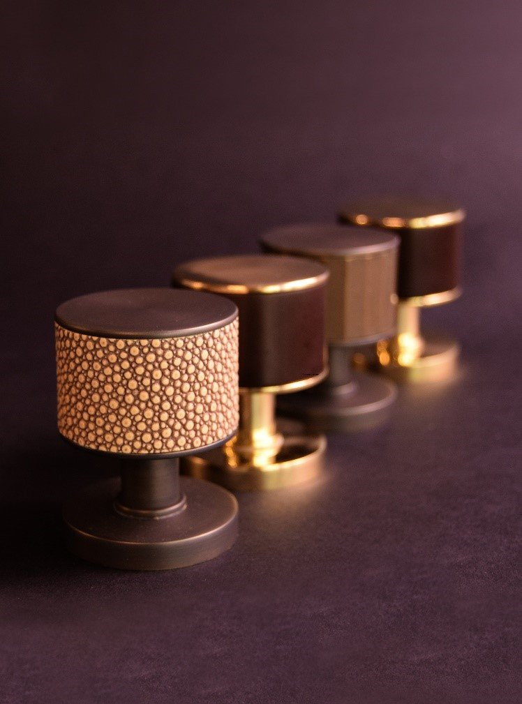 Stacked Shagreen Door knob, Turnstyle Designs.jpg